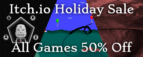 Itch.io Holiday Sale All Games 50% Off