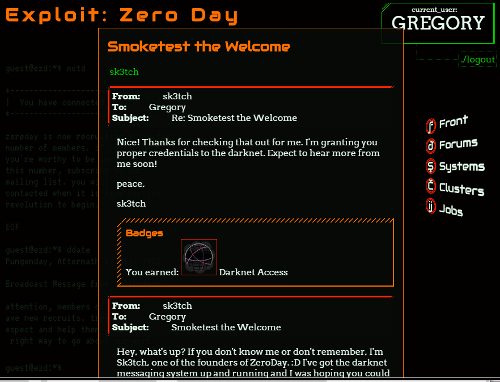 Example Narratives in Exploit: Zero Day